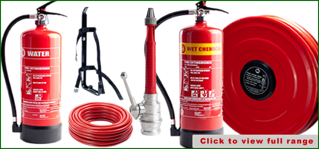 wide range of fire equipment